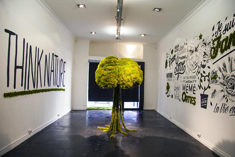 Monsieur Plant © 2015 • THINK NATURE • Installation / collectif SEIZE (Cros2 - Baze - Cloë - M.Plant) • SEIZE Gallery