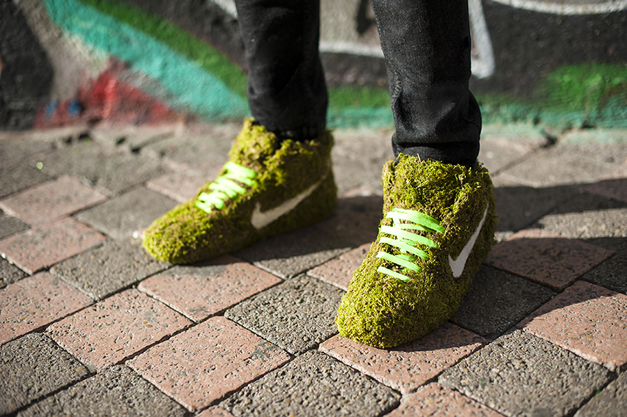 Monsieur Plant © 2016 • Moss Collection • Sneakers • Photo. Florian Gallène
